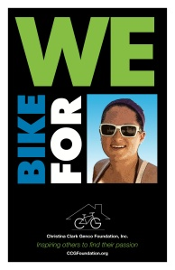 We Bike for Christina poster