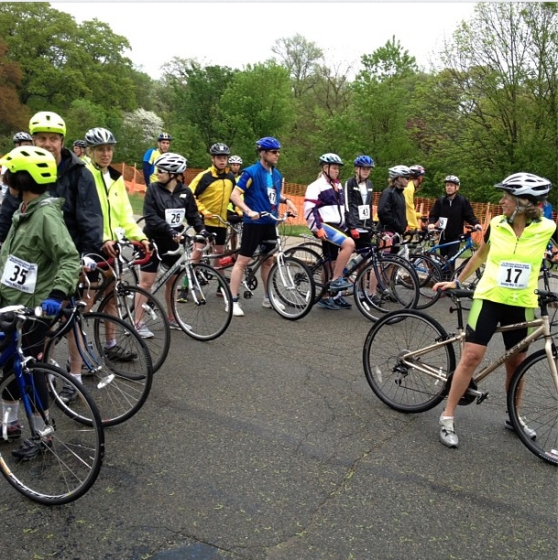 at the starting line of the christina clarke genco mother's day memorial ride