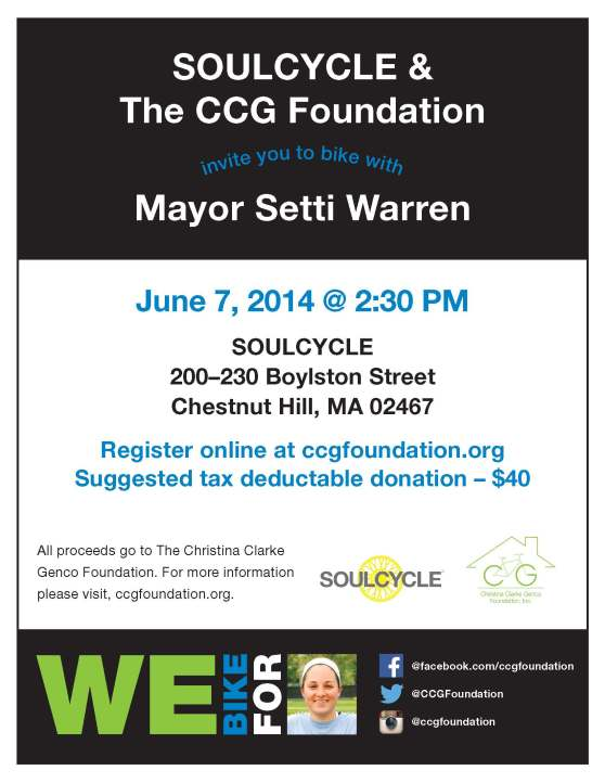 soul cycle on june 7 CCGF